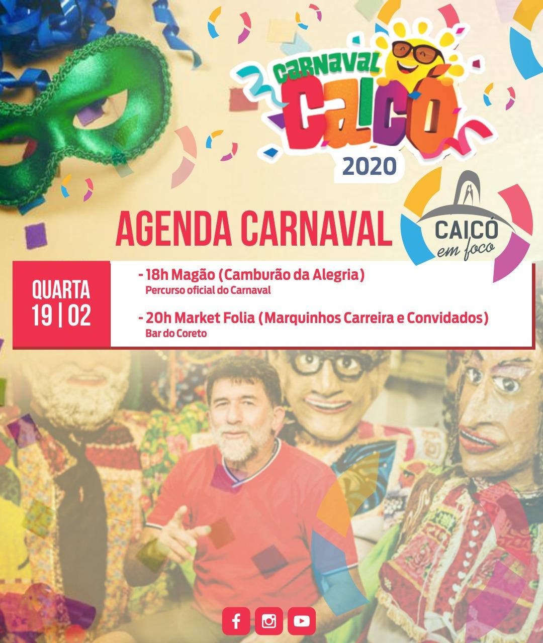 Agenda do carnaval 2020