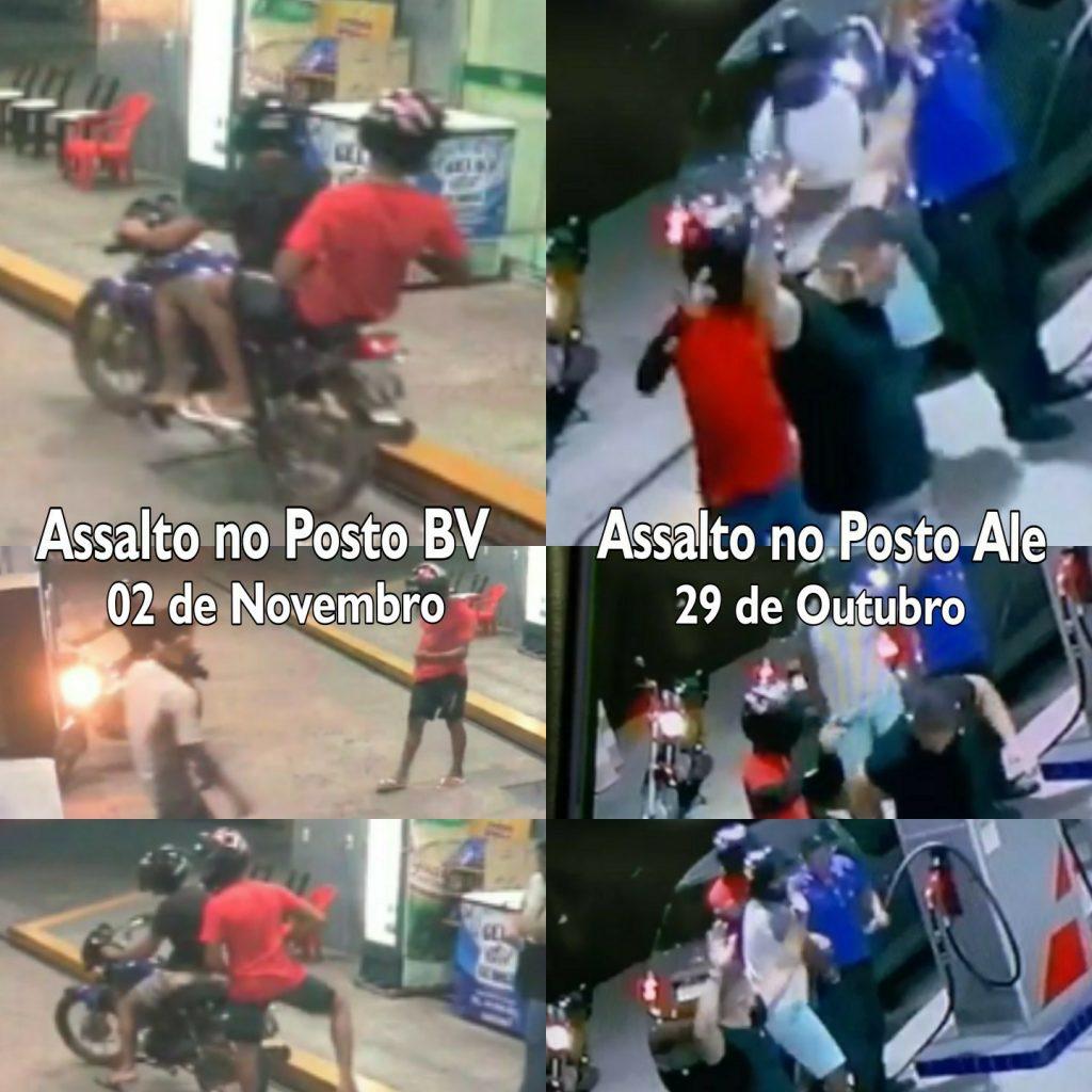 Comparação entre ladrões que roubaram no Posto Ale (29) e no Posto Boa Vista (02)
