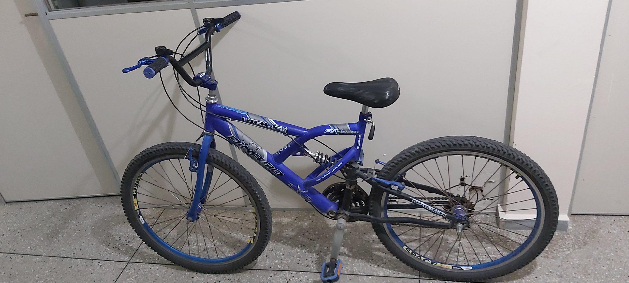 Bicicleta abandonada pelo suspeito na Rodoviária de Caicó