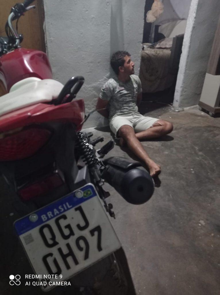Júlio César, preso com a moto da vítima